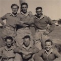 Pts Tilly, Fell, Thompson, Pepperell, Davison and Searby. Sarafand, Palestine, Nov 1947.