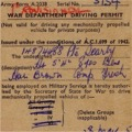 War Department Driving Permit, Provisional, 1945