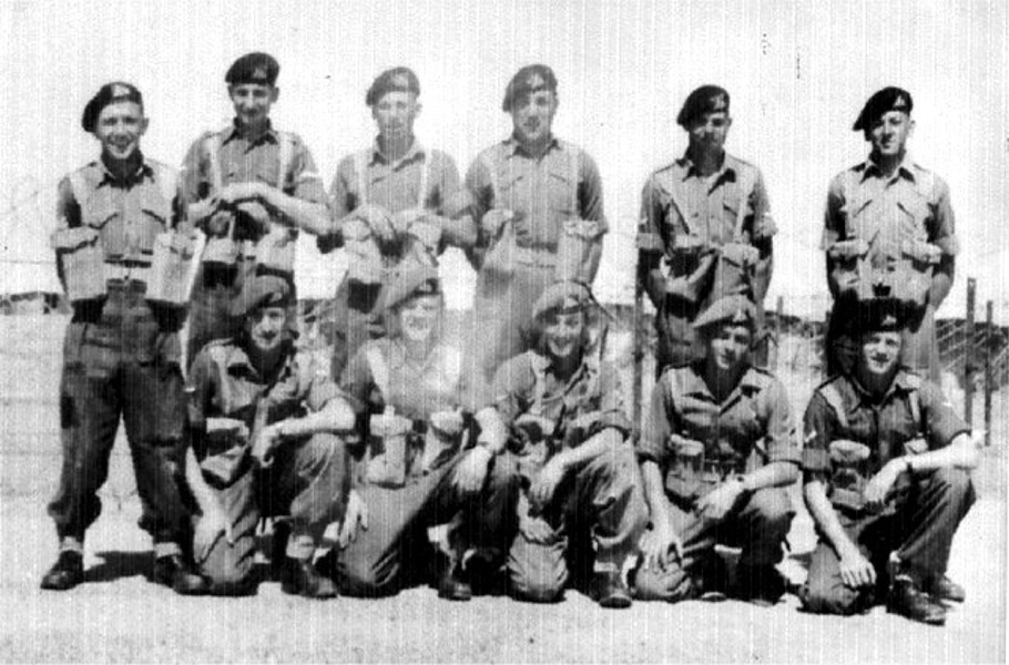 NCO Cadre, 1st Bn. 1952. North Camp, Ismailia, Egypt.