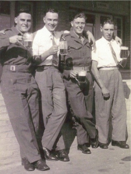 MT section, 1st Bn. L to R. Pte Durrant, Terry Barlow. Ismailia Garrison, Egypt 1950-1951.
