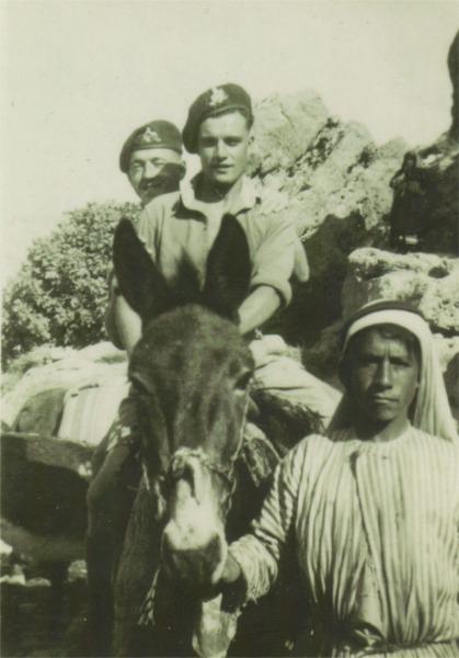 D.Coy. 1st Bn. Aqaba 1951. Front: KIller. Behind: Ken Garbett.