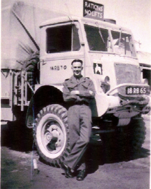 Terry barlow, MT Section, 1st Bn. Matosa Garrison, Egypt, 1950.