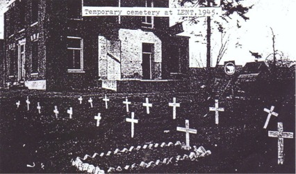 Temporary Cemetery at Lent - 1945