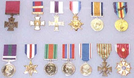 Hansen's medal collection at the Imperial War Museum.