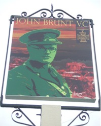 New Sign for the 'John Brunt VC' Public House