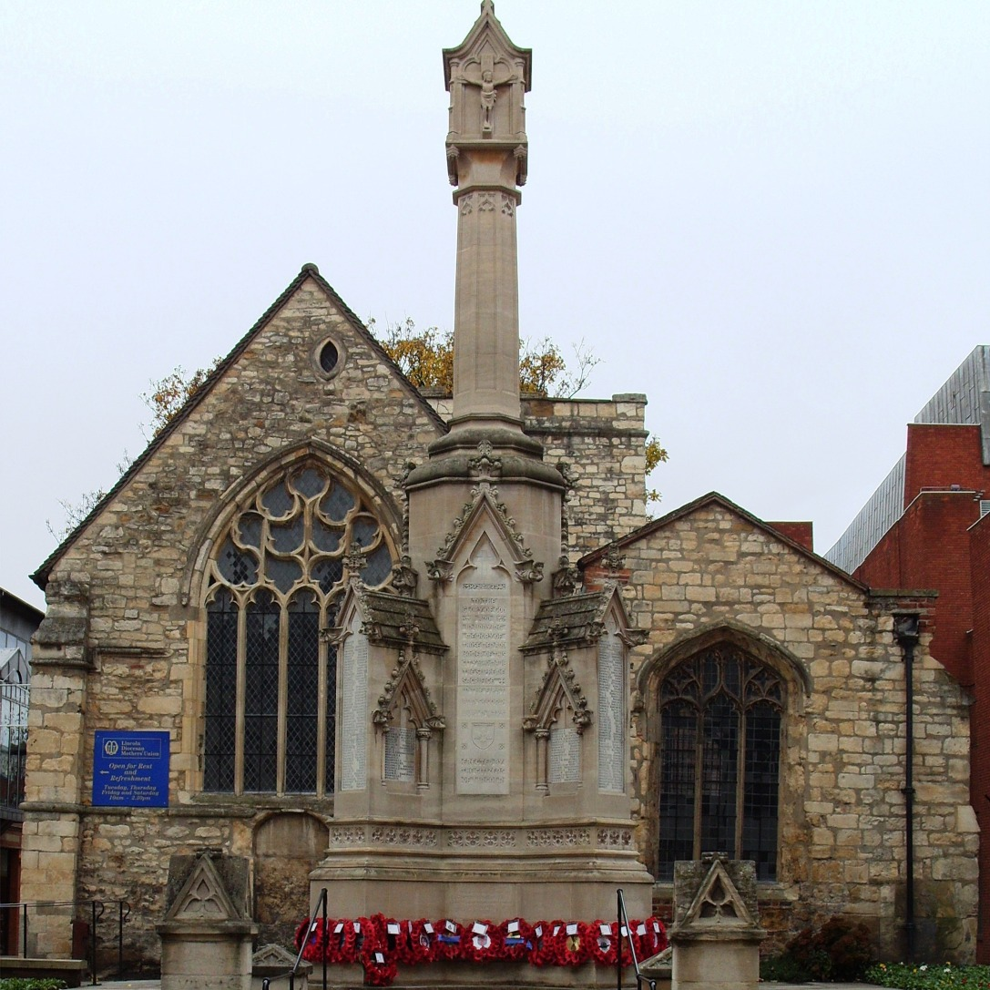 Lincoln - St Benedict's Square. Remembrance Parade, 8th November 2008.