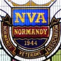Cleethorpes, St Peter's - Normandy Veteran Association memorial window, installed 31 July, 1994. Photograph © Fiona Poulton/Great  Grimsby  Family History Group - All Rights Reserved (permission granted to reproduce here).